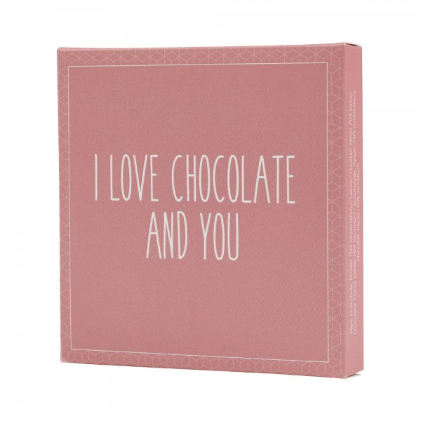 Konnerup & Co. Chokolatier I love chocolate and you - Schokolade 70 % Kakao (50g)