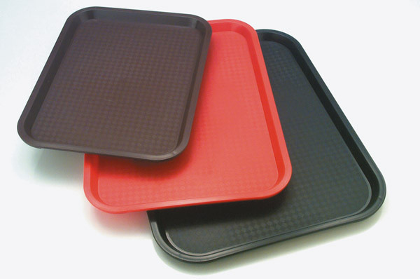 Fast Food-Tablett 45 x 35,5 cm, H: 2 cm Polypropylen, rot