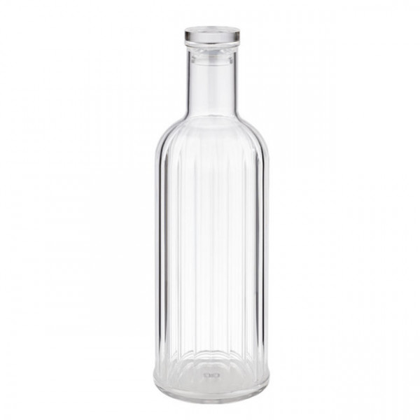 Flasche -STRIPES- Ø 9 cm, H: 28,5 cm, 1 Liter MS, Silikon, transparent