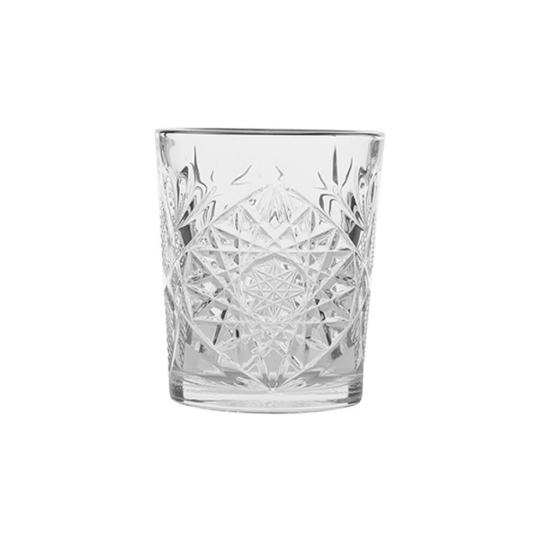 Double Old Fashioned Glas mit Platinrand (Hobstar 355ml)