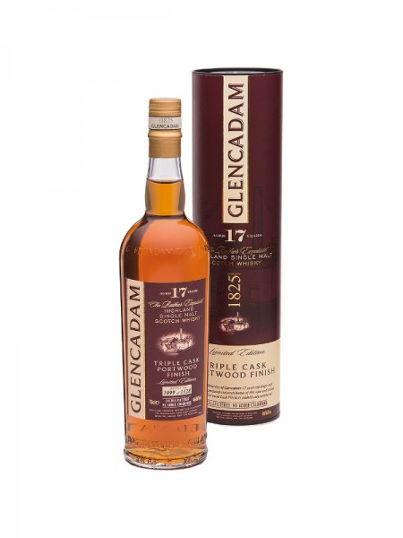 Glencadam Highland Single Malt Whisky Triple Cask Portwood-Finish 17 Years Limited Edition (0,7l)